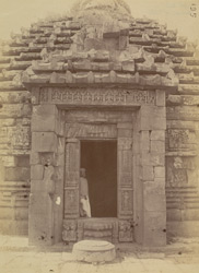 View from the east of the entrance to the Brahmeshvara Temple, Bhubaneshwar